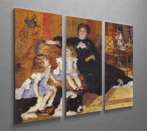 Madame Charpentier and her children by Renoir 3 Split Panel Canvas Print - Canvas Art Rocks - 2