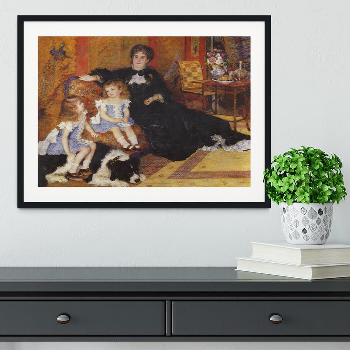 Madame Charpentier and her children by Renoir Framed Print