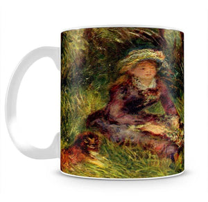 Madame Renoir with dog by Renoir Mug - Canvas Art Rocks - 2