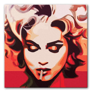 Madonna Cigarette Canvas Print - Canvas Art Rocks - 1