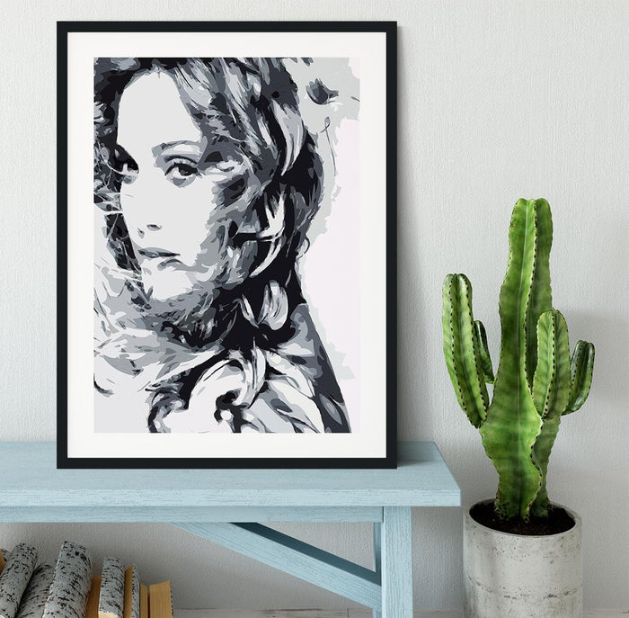 Madonna Pop Art Framed Print