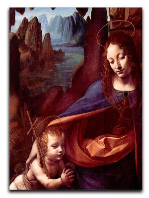 Madonna in the rock cave Detail by Da Vinci Canvas Print & Poster  - Canvas Art Rocks - 1