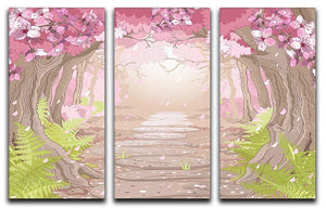 Magic spring forest 3 Split Panel Canvas Print - Canvas Art Rocks - 1