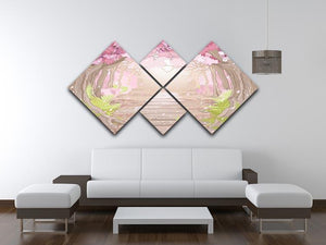Magic spring forest 4 Square Multi Panel Canvas - Canvas Art Rocks - 3