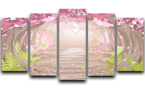 Magic spring forest 5 Split Panel Canvas  - Canvas Art Rocks - 1