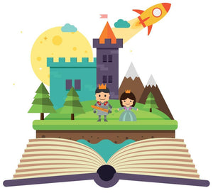 Magical Castle Book Wall Sticker - Canvas Art Rocks - 2