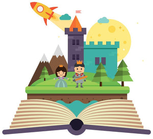 Magical Castle Book Wall Sticker - Canvas Art Rocks - 3
