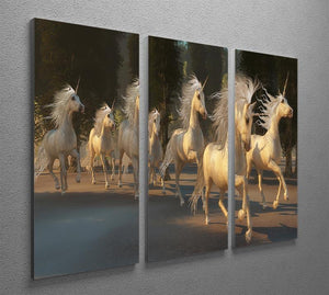 Magical Unicorn Forest 3 Split Panel Canvas Print - Canvas Art Rocks - 2