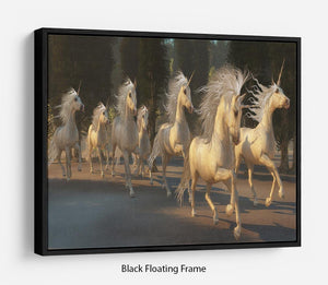 Magical Unicorn Forest Floating Frame Canvas