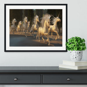 Magical Unicorn Forest Framed Print - Canvas Art Rocks - 1