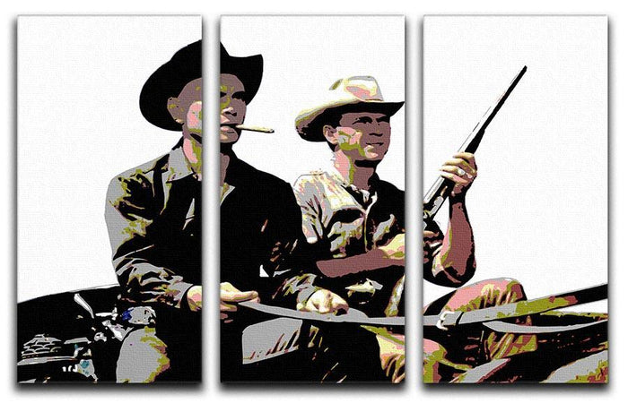 Magnificent Seven 3 Split Panel Canvas Print