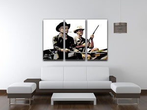 Magnificent Seven 3 Split Panel Canvas Print - Canvas Art Rocks - 4