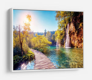 Majestic view on turquoise water HD Metal Print