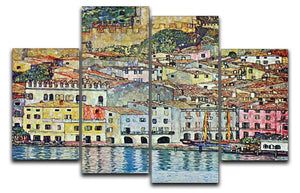 Malcena at the Gardasee by Klimt 4 Split Panel Canvas  - Canvas Art Rocks - 1