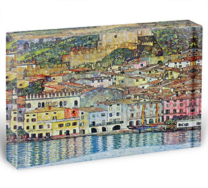 Malcena at the Gardasee by Klimt Acrylic Block - Canvas Art Rocks - 1