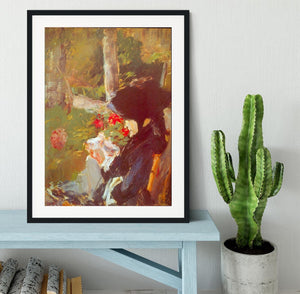 Manets Mother by Manet Framed Print - Canvas Art Rocks - 1