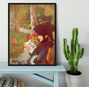 Manets Mother by Manet Framed Print - Canvas Art Rocks - 2