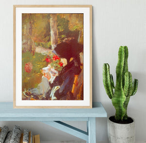 Manets Mother by Manet Framed Print - Canvas Art Rocks - 3
