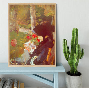 Manets Mother by Manet Framed Print - Canvas Art Rocks - 4
