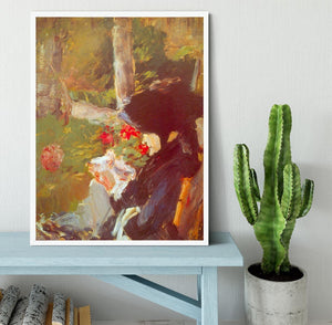 Manets Mother by Manet Framed Print - Canvas Art Rocks -6