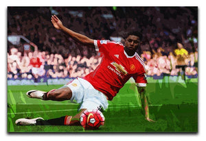 Marcus Rashford Action Manchester United Canvas Print or Poster  - Canvas Art Rocks - 1