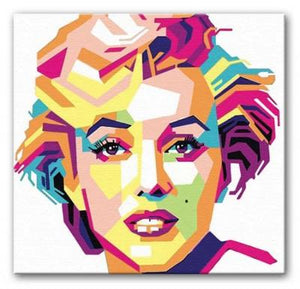 Marilyn Monroe Mosaic Print - Canvas Art Rocks - 1