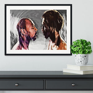 Marvin Hagler v Thomas Hearns Framed Print - Canvas Art Rocks - 1