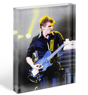 Matt Bellamy Muse Acrylic Block - Canvas Art Rocks - 1