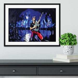 Matt Bellamy from Muse Framed Print - Canvas Art Rocks - 1