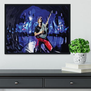 Matt Bellamy from Muse Framed Print - Canvas Art Rocks - 2