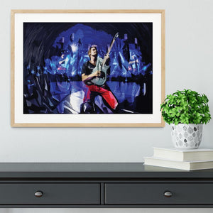 Matt Bellamy from Muse Framed Print - Canvas Art Rocks - 3