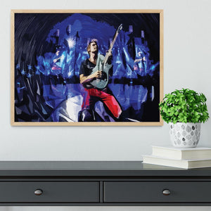 Matt Bellamy from Muse Framed Print - Canvas Art Rocks - 4