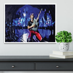 Matt Bellamy from Muse Framed Print - Canvas Art Rocks -6