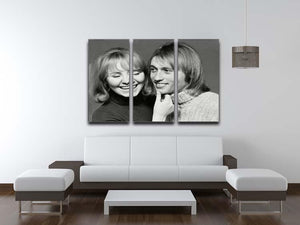Maurice Gibb with Lulu 3 Split Panel Canvas Print - Canvas Art Rocks - 3