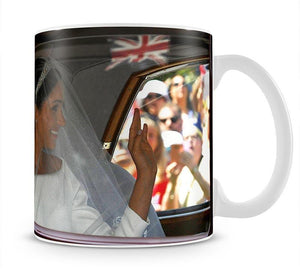 Meghan Markle and her mother arrive at the wedding Mug - Canvas Art Rocks - 1