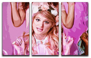 Meghan Trainor 3 Split Panel Canvas Print - Canvas Art Rocks - 1