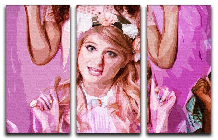 Meghan Trainor 3 Split Panel Canvas Print