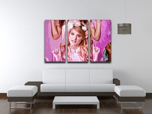 Meghan Trainor 3 Split Panel Canvas Print - Canvas Art Rocks - 3