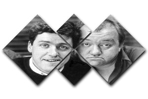 Mel Smith and Griff Rhys Jones 4 Square Multi Panel Canvas  - Canvas Art Rocks - 1