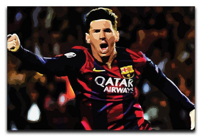 Messi Goal Celebration Canvas Print or Poster