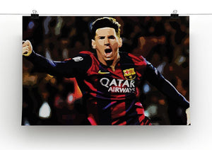 Messi Goal Celebration Canvas Print or Poster - Canvas Art Rocks - 2