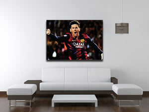 Messi Goal Celebration Canvas Print or Poster - Canvas Art Rocks - 4