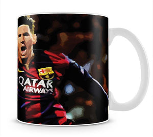 Messi Goal Celebration Mug - Canvas Art Rocks - 1