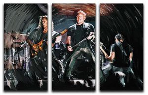Metallica Live 3 Split Panel Canvas Print - Canvas Art Rocks - 1