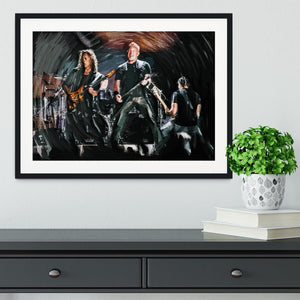 Metallica Live Framed Print - Canvas Art Rocks - 1