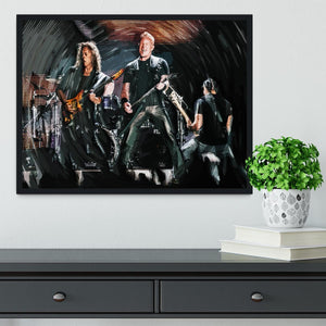 Metallica Live Framed Print - Canvas Art Rocks - 2