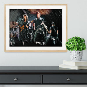 Metallica Live Framed Print - Canvas Art Rocks - 3