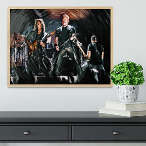 Metallica Live Framed Print - Canvas Art Rocks - 4