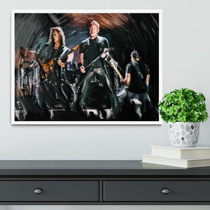 Metallica Live Framed Print - Canvas Art Rocks -6