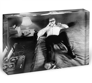 Michael Caine relaxing at home Acrylic Block - Canvas Art Rocks - 1